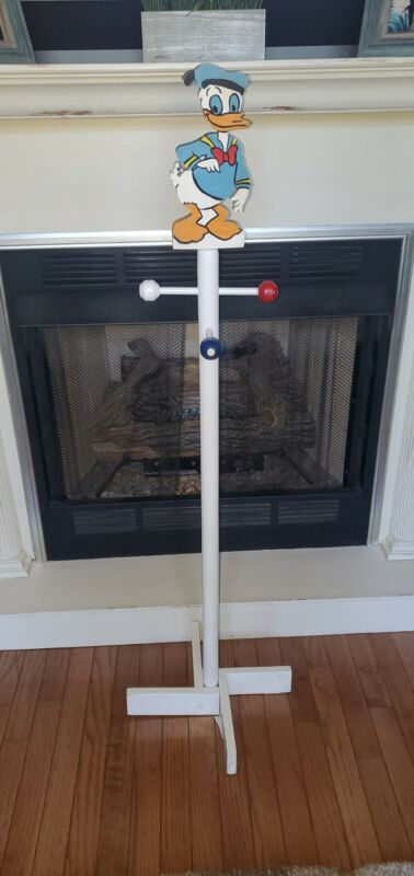 Vintage DISNEY DONALD DUCK Handpainted Coat Clothes Hanger Mickey Mouse