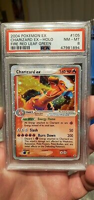 Pokémon EX Fire Red Leaf Green Charizard EX PSA 8