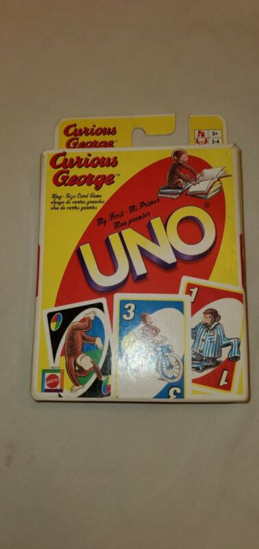 2005 Mattel Curious George My First UNO Card Game - 100% Complete & GOOD SHAPE