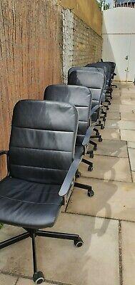 Senator Office Chair, black Leather, 22 Avaliable