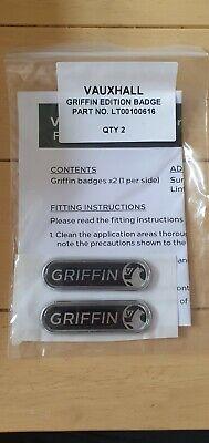 Vauxhall Griffin Badges Side Indicator Genuine VX SRI VXR Corsa Astra Mokka Vaux
