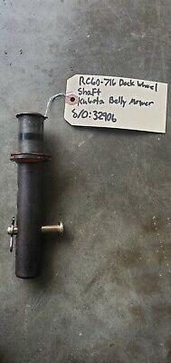 Kubota Belly Mower Rc60-71b Deck Wheel Shaft