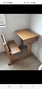Antique old timber school desk.