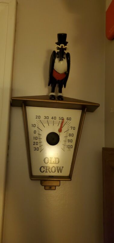 Old Crow Thermometer Very Rare