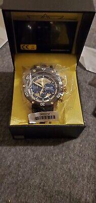Invicta 30079 Watch Pro Diver men's 50mm  Gold Blue Black Chronograph