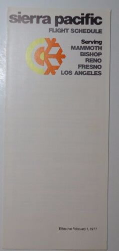 Sierra Pacific Airlines 1977 Public System Timetable