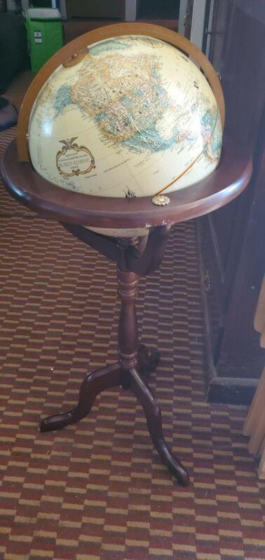 "Bombay Company Globe Floor Wooden Stand 12"" Replogle World Classic Globe"