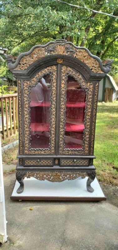 Antique Oriental Curio Cabinet