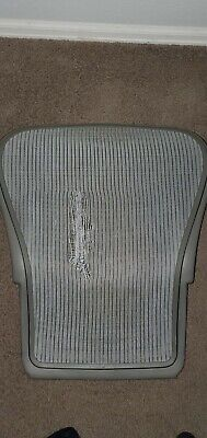 Herman Miller Aeron Chair Grey Gray Back Seat Mesh Size C Large See Pictures