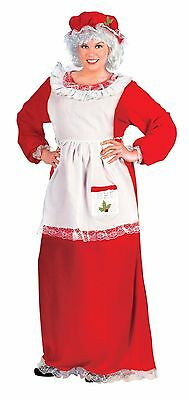 Mrs Santa Claus Christmas Adult Costume, Plus Size 16W-24W - Mrs Santa Claus Costume