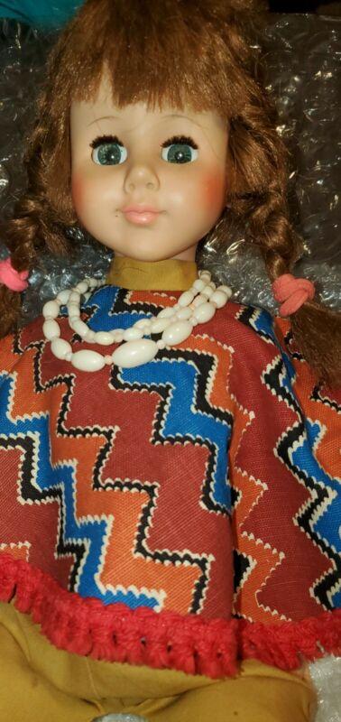 """Vintage Eegee Doll 21"""" Eegee 15PM PLAYPAL FRIEND Sleepy Eyes STRAIGHT LEG CLEAN"""