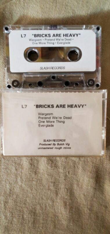 L7 Bricks Are Heavy Rough Mixes Unmastered Promo Cassette