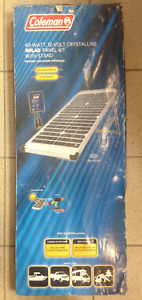 """sold""  Coleman Solar Panel kit  40w 12v Crystalline"