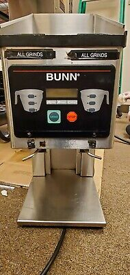 Bunn Brewwise Mhg Stainless Steel Dual Hopper Coffee Grinder