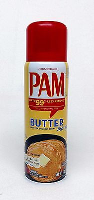 Fat Free Butter Spray - 1 PAM BUTTER No-Stick Fat Free Cooking Spray 5 oz