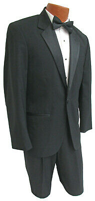 Men's Black Tuxedo with Pants Satin Notch Lapels Cheap Prom Wedding Mason Tux  Black Notched One Button Tuxedo