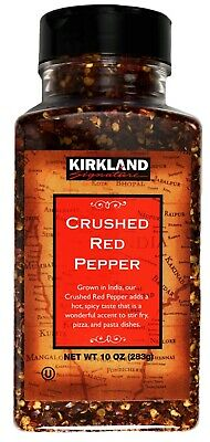 Kirkland Crushed Red Pepper Indian Hot Spicy, 10 OZ (283g) Hot Crushed Pepper
