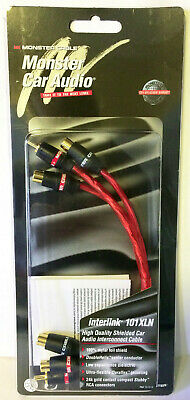 """Monster Cable Car Audio Interlink 101XLN Y Adapter 1M to 2F RCA 101288 10"""" 2 Pcs"""