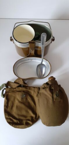 Soviet Russian army of the USSR flask military water flasks + pot + glass