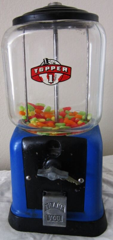Topper Round Peanut / Candy 1c Dispenser circa 1940