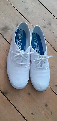 KEDS Champion Canvas Trainers Flats White UK Size 6 Hardly Worn!
