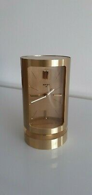 BOXED SWIZA 8 DAY MECHANICAL CYLINDRICAL SWISS CARRIAGE CLOCK. WORKING ORDER.