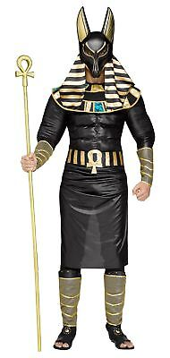 Anubis Egyptian God Men's Adult Halloween Costume Jackal Death Black Plus Size (God Costume For Men)