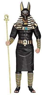 Anubis Egyptian God Men's Adult Halloween Costume Jackal Death Black Plus Size](Egyptian Halloween Costumes Plus Size)