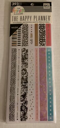 Me & My Big Ideas The Happy Planner WASHI 393 Stickers for Planners PPWL-10 NEW!