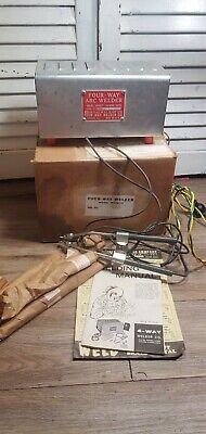 Vintage Four-way Arc Welder- Works Includes Miscellaneous Welding Rods