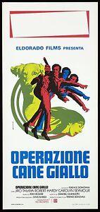OPERAZIONE-CANE-GIALLO-LOCANDINA-TERENCE-DONOVAN-1973-YELLOW-DOG-PLAYBILL-POSTER
