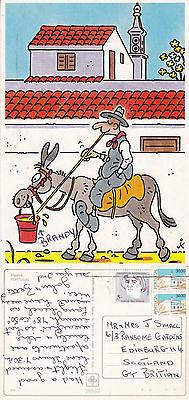 1990's COMEDIC VISUAL ALGARVE PORTUGAL COLOUR POSTCARD