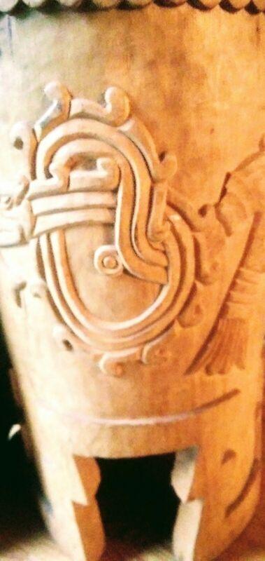 """Huehuetl Drum 26"""" X 15"""" Native Drum Aztec Dance"""