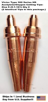 Oxygenacetylene Cutting Torch Tip - Victor Type Hd 300 Series- 1101-5 2pc