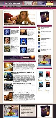 Established Clickbank Affiliate Blog Website-law Of Attraction Niche