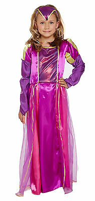 Girls Historic Tudor Child Fancy Dress Dressing Up World Book Day Outfit 4-12 Yr