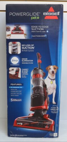 BISSELL PowerGlide Bagless Pet Upright Vacuum Red Berends 1305