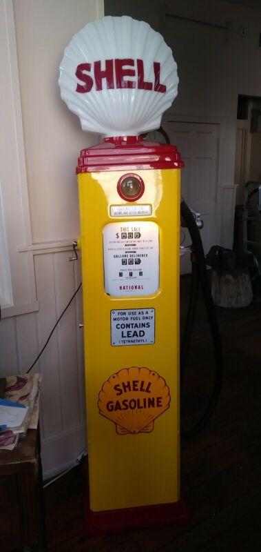 Vintage Shell C-38 National Glass Globe Gas Pump Restored