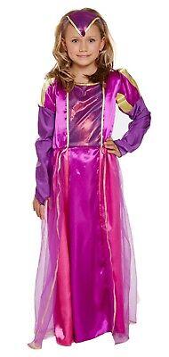Mädchen Schick Tudor Kostüm Verkleiden Outfit Ages 4-12 Jahre Welttag des Buches