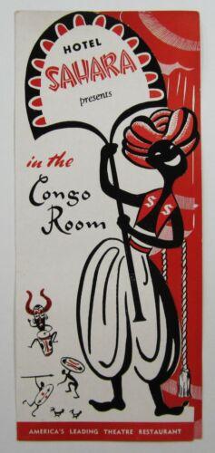Vtg Sahara Las Vegas Casino Kathryn Grayson Movie Star Congo Room Souvenir 1955