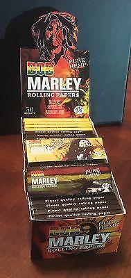 Bob Marley Pure Hemp Rolling papers 1 1/4-1.25 Box Of 50 Packs 32 Leaves Per Bob Marley Rolling Papers