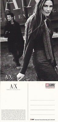 ARMANI EXCHANGE CLOTHING UNUSED ADVERTISING COLOUR POSTCARD