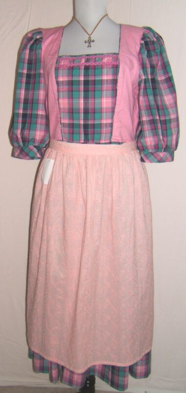 Rose Dirndl Authentic Bavarian Womens Cotton Dirndl Dress Oktoberfest Sz.EU 40