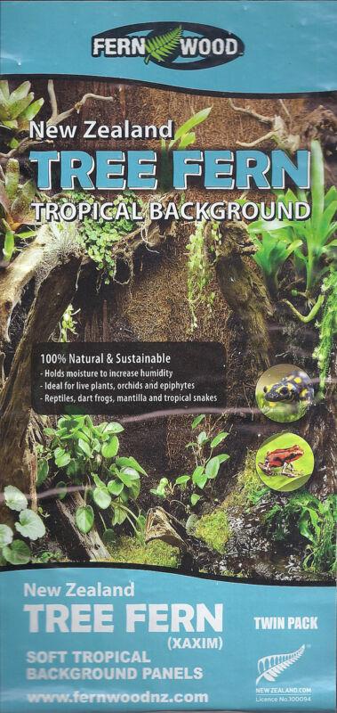 Fern Wood New Zealand Tree Fern Tropical Background Panel 18x6x0.6 Twin Pack