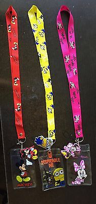 MICKEY MOUSE,MINNIE MOUSE, DESPICABLE ME LANYARD WITH ID HOLDER **US - Minnie Mouse Lanyard