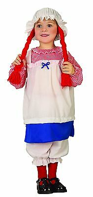 Rag Doll Costume Toddler Size 2T-4T Hat Dress Pantaloons (Toddler Rag Doll Costume)