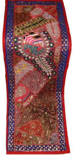 Table runner wall decor tapestry exotic embroidery work motif beaded embellish