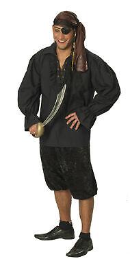 Kostüm schwarzes Hemd Pirat Edelmann Vampir Piratenhemd Gr.48-60 Kostüm - Pirat Kostüm Mann