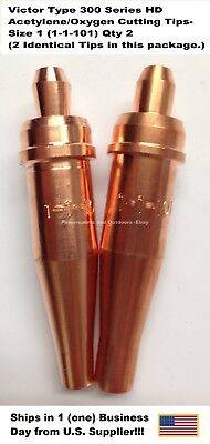 Oxygenacetylene Cutting Torch Tip - Victor Type Hd 300 Series- 1101-1 2pc
