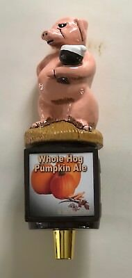 Stevens Point Whole Hog Beer Ale Tap Handle Bar Man Cave Pub -Rare-!! NIB